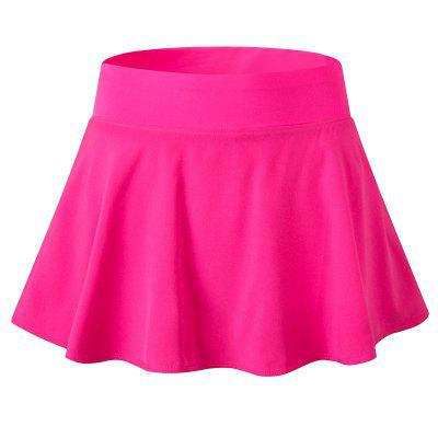Women Quick Drying Skirt With Underwear Tennis Badminton Fitness Gym Anti Exposure Culottes Shorts