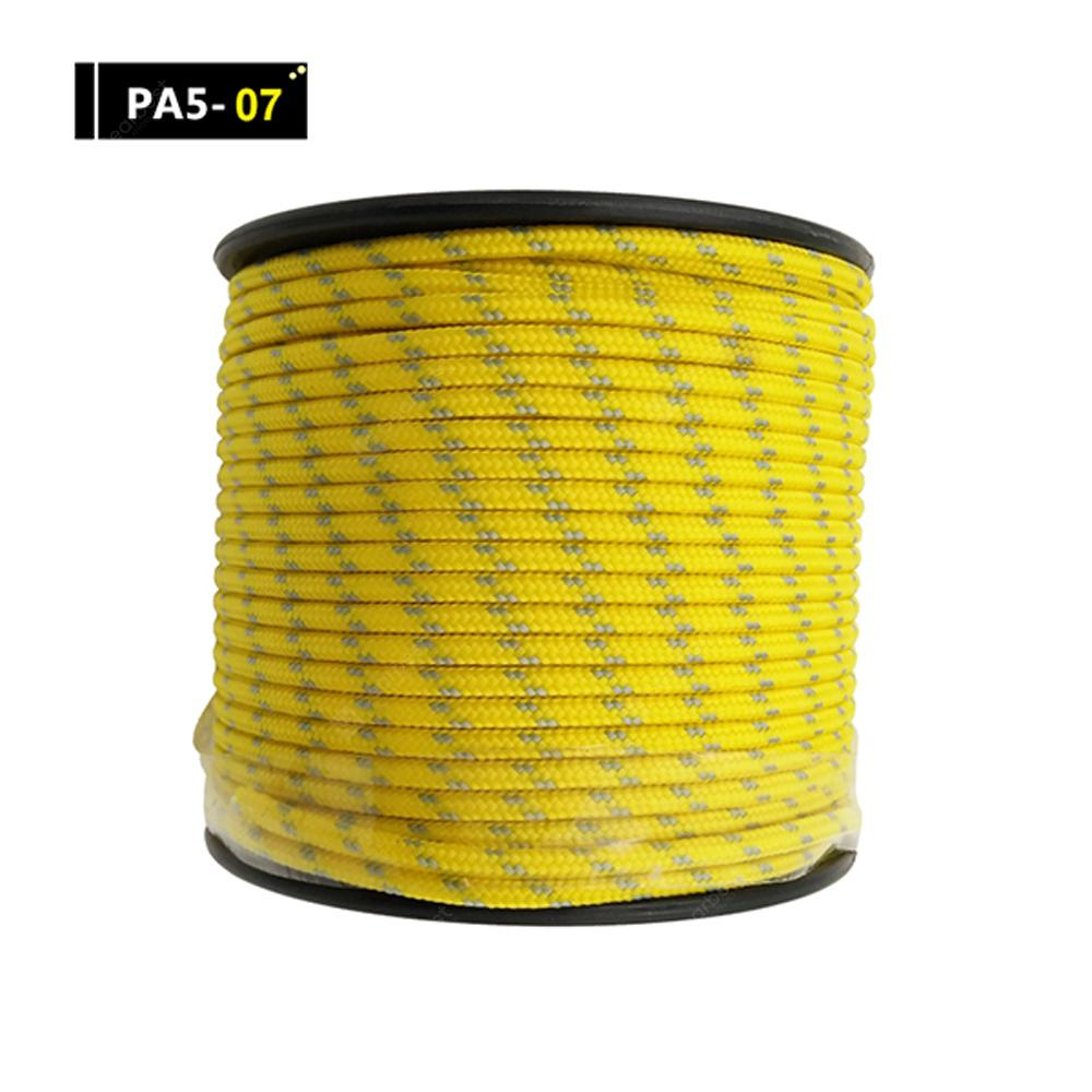 YOUGLE 5 Strands 164FT Paracord Parachute Cord Lanyard Rope Knitted Bracelet Survival Equipment