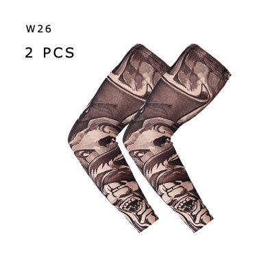 Men Women Tattoo Sleeve Arm Leg Sun-proof Elastic Seamless Art Sleevelet Cycling Outdoor Sports 1