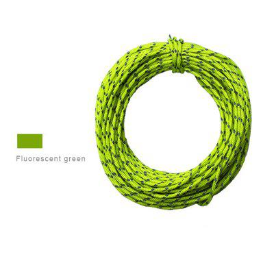 Reflective Paracord Parachute Cord Tent Wind Rope Clothesline Survival Equipment 50 Feet