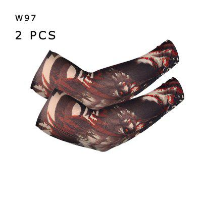 Men Women Tattoo Sleeve Sun-proof Cool Warm Elastic Seamless Art Arm Leg Sleevelet For Cycling