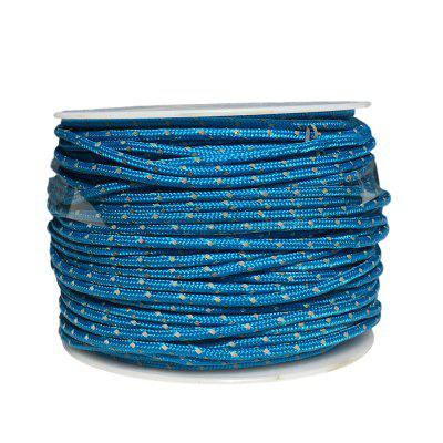 YOUGLE 50M 3 Strands Cores 280LB Reflective Paracord Parachute Cord Tent Guy Fishing Line