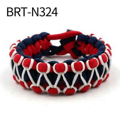Adjustable Glow in the Dark 550 Paracord Bracelet Parachute Cord Bracelet Wristband Hand-made
