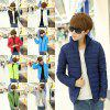 2019 New Men Winter Warm Stand Collar Long Sleeve Zip Coat Solid Jacket Casual Jackets