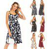 Women Summer Casual Dress V-Neck Printed Backless Side Pockets Sleeveless Female Dress