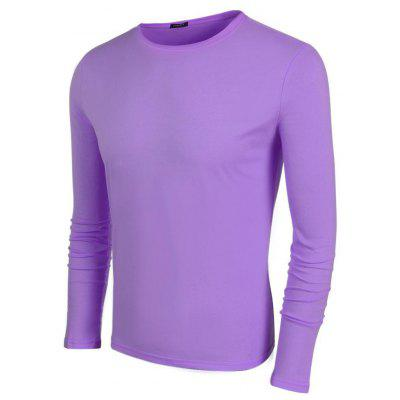 Fshion Autumn Mens Casual O-Neck Long Sleeve Solid T-Shirt Tops