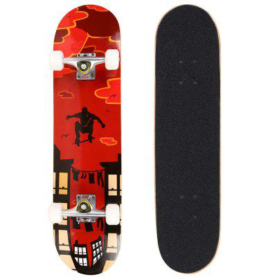Fashion PRO Print Wood board And PU wheels Complete Deck Skateboard