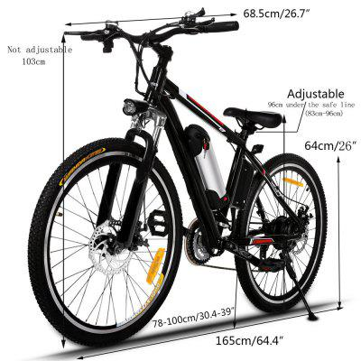 Ancheer 26 Inch 250W 21 Speed Powerful Electric Bike City Road Electric Mountain Bicycle