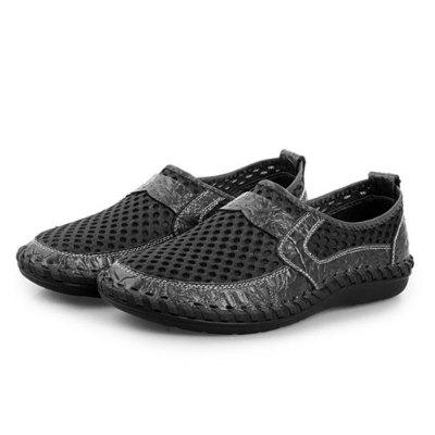 2019 Men Genuine Leather Breathable Running Shoes