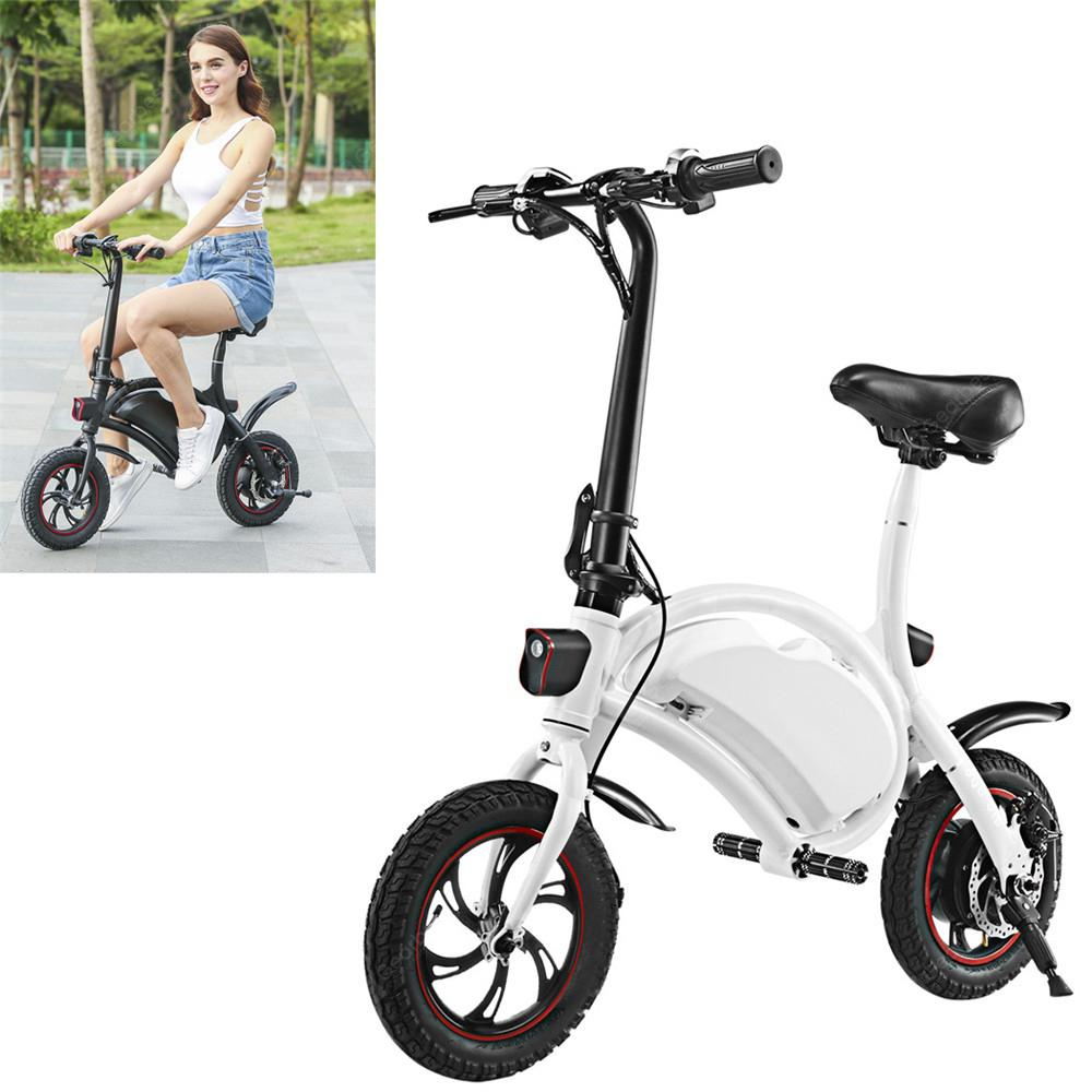 Electric Bike Folding Portable Bicycle Range Adult Student Bicycle Mini Aluminum Alloy Smart Moped - 01 white United States