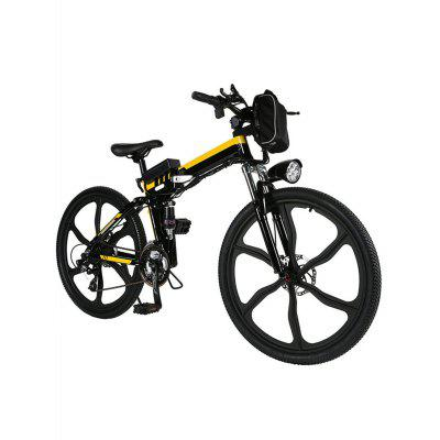 Ancheer 26inch 21 Speed Foldable Electric Power Mountain Bicycle Lithium-Ion Aluminum Alloy Bicycle Image