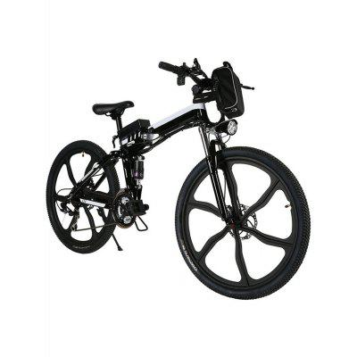 Ancheer 26inch 21 Speed Foldable Electric Power Mountain Bicycle Lithium-Ion Aluminum Alloy Bicycle