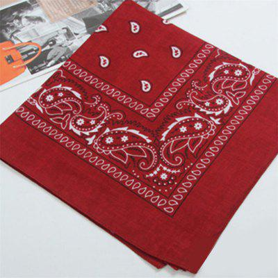 Outdoor Square Bandana Styling Motorcycle Headwear Scarf Floral Casual Neck Wrist Wrap Head Tie