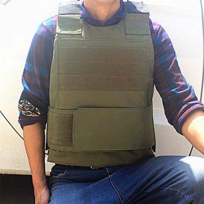 Men Tactical Vest Down Body Armor Plate Airsoft Carrier Vest CB Camo Woodland Hunting Combat CS Vest