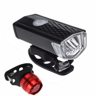 Mountain Bike Headlight Taillight Set Bicycle USB Rechargeable Led Light Super Bright Flashing