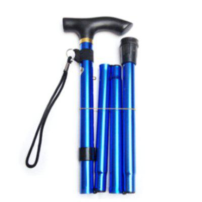 Portable Foldable Mountaineering Cane Aluminum Alloy Telescopic Trekking Pole
