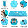 PVC Sleeping Pad Single Fast Inflatable for Camping Hiking with Built in Pump
