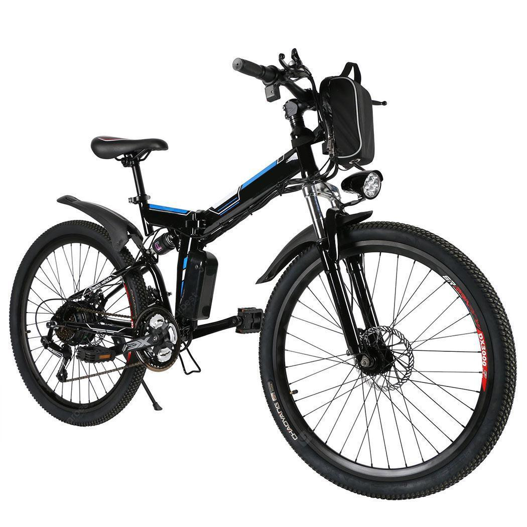 Ancheer 26inch 36V Foldable Electric Power Mountain Bicycle with Lithium-Ion Battery - black Germany