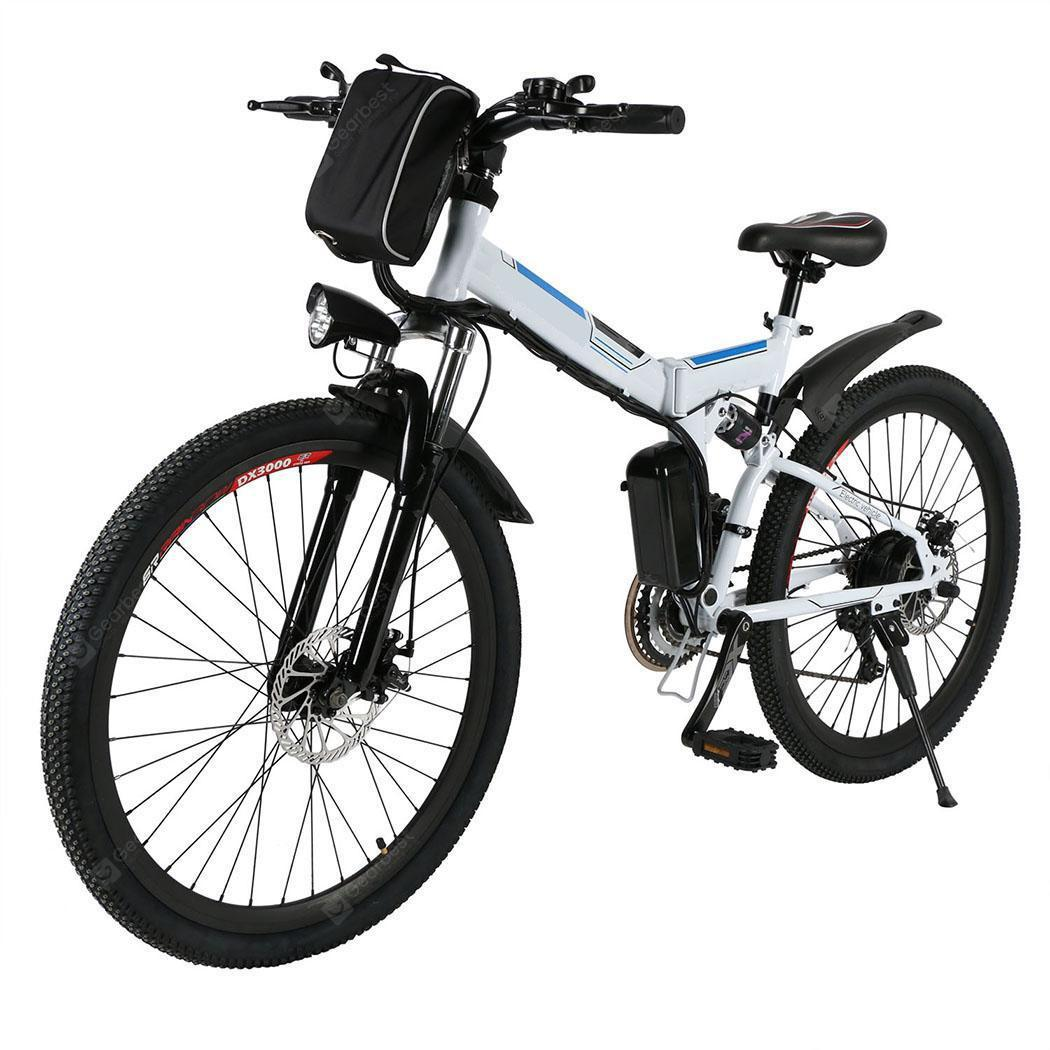 Ancheer 26inch 36V Foldable Electric Power Mountain Bicycle with Lithium-Ion Battery - white Germany ?entrep�t EU) 6%commissions