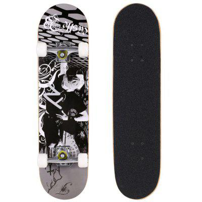 Ancheer Fashion PRO Print Wood board and PU wheels Complete Deck Skateboard