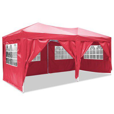 Folding Party Tent with Side Panel Tent for Garden Wedding Aluminum Tube Support