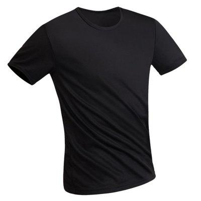 Anti-Dirty Waterproof Men Running T Shirt Creative Hydrophobic Quick Men Short Sleeve T-Shirt