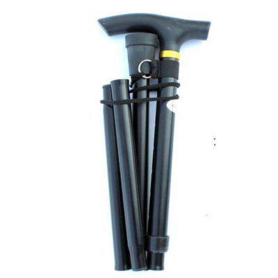 Portable Foldable Trekking Pole Telescopic Aluminum Alloy Mountaineering Cane