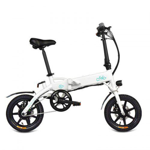 FIIDO D1 Aluminum Alloy Folding Electric Bicycle With Pedals Tire 250W Hub Motor White