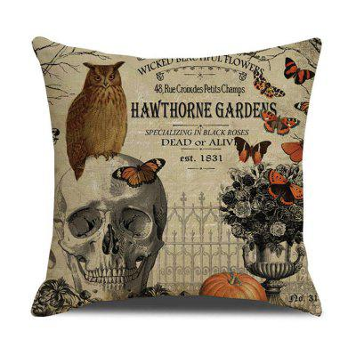 Printed Pillow Case Cafe Home Decor Sofa Car Halloween Skull Cushion Covers