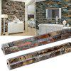 New Retro 3D Effect Natural Embossed Stack Stone Brick Tile Print Wall Paper Wallpaper