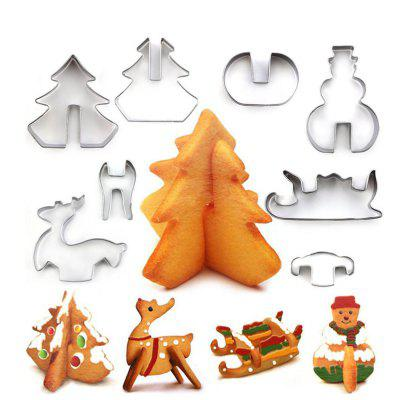 Creative Stainless Steel Christmas 3D Type Cracker Cookie Mold