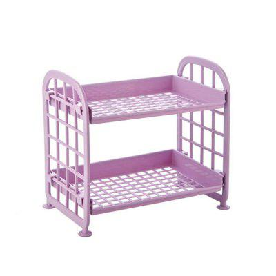 Multi-functional Double Layers Hollow Out Stand Rack Storage Shelves