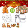 18Pcs Kitchen Stainless Steel Mini Geometric Shaped Cookie Biscuit Cutter Set