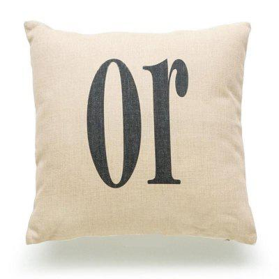 New Halloween English Letters Pattern Pillowcase Pillow Cover for Home Decor