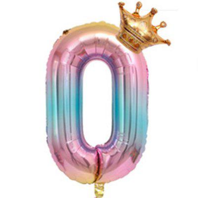 Number Crown Shape Aluminum Balloon Decoration For Birthday Party