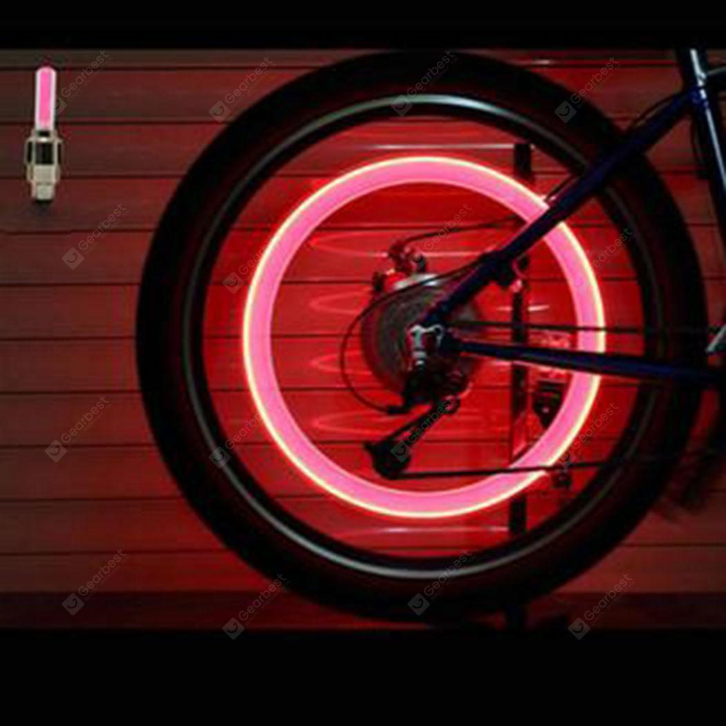 2pc Car Motorcycle Bicycle Accessories LED Flash Tyre Wheel Valve Cap Light Lamp