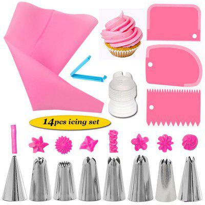 14Pcs Cake Decorating Supplies Kit Kitchen Dessert Baking Pastry Supplies