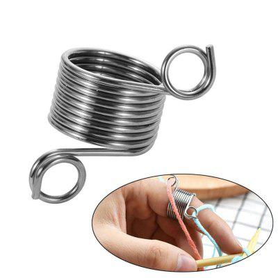 Creative Stainless Steel Knitting Thimble Handmade Crocheting Braiding Gadget
