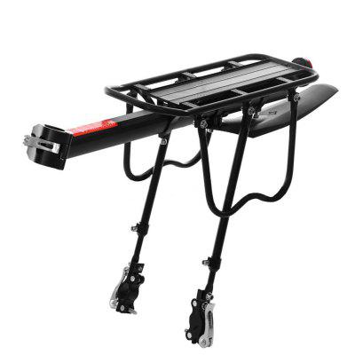 Outdoor Riding Black Aluminum Alloy Bicycle Mountain Bike Luggage Carrier Kit