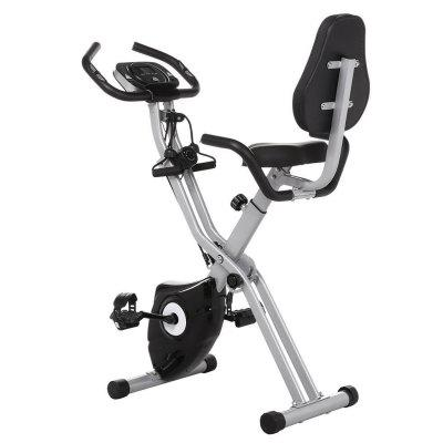 Ancheer Folding 10 Levels Magnetic Resistance Upright Exercise Bike With Backrest Pad