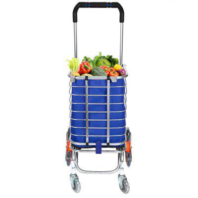 Travel Shopping Cart Aluminum Folding Swivel Wheel Grocery Laundry Cart