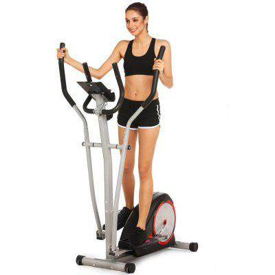Ancheer Magnetic Control Mute Elliptical Trainer with LCD Monitor Home Office Fitness Machine