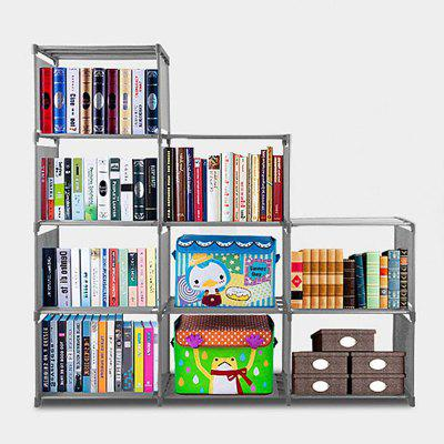 Fashion Korean Home Furniture Adjustable Bookcase Storage Bookshelf with 9 Book Shelves