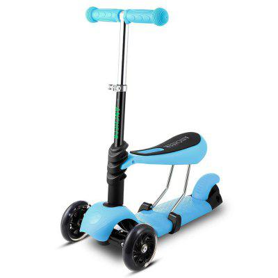 Ancheer Child Kids 3 Wheel Mini Kick Scooter with Adjustable Handle T Bar And Seat