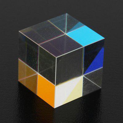 Colorful Combiner Splitter Teaching Tools Cube Optical Glass Prism