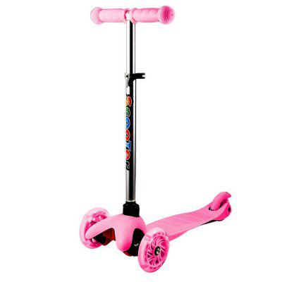 Ancheer Kids 3-Wheel 4 Levels Adjustable Height Kick Scooter with LED Light Up Wheels
