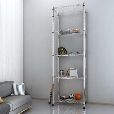 5-Tier Steel Shelving 72inch Height with Wheels Kitchen Balcony Living Room
