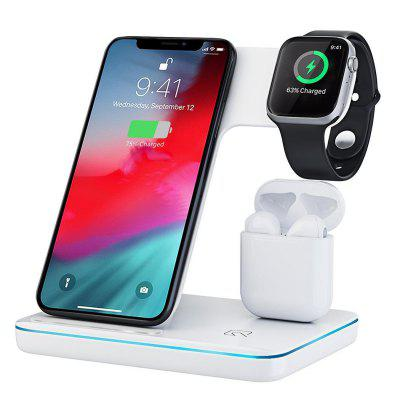 3 in 1 Fast Wireless Charger Stand Charging Dock For iPhone AirPods Apple Watch