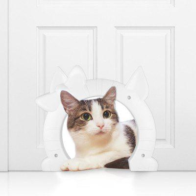 Pet Cat Door for Medium Large Cats Freely Coming in and Going Out