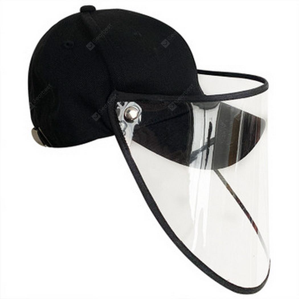 Kid-black Baseball Cap With Face Protection Unisex Cap with Removable Visor Mask Dustproof for Man//Women//Kids 2020 Newest Full Face Protective Hat